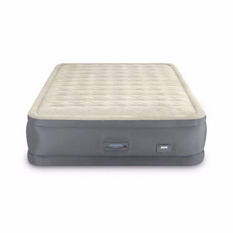 Двуспальная надувная кровать Intex 64926 (152 x 203 x 46 см) PremAire II + Встроенный электронасос 220В с USB портом и регулятором жесткости