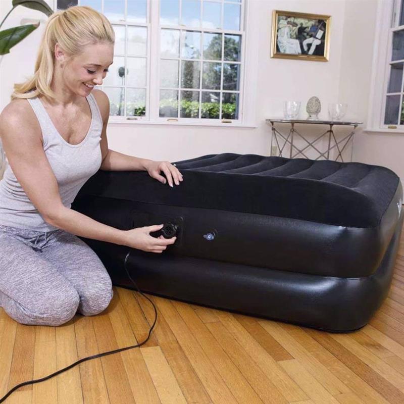 Двуспальная надувная кровать Bestway 67403 (203 x 152 x 46 см) Tritech Airbed + Встроенный электронасос 220В