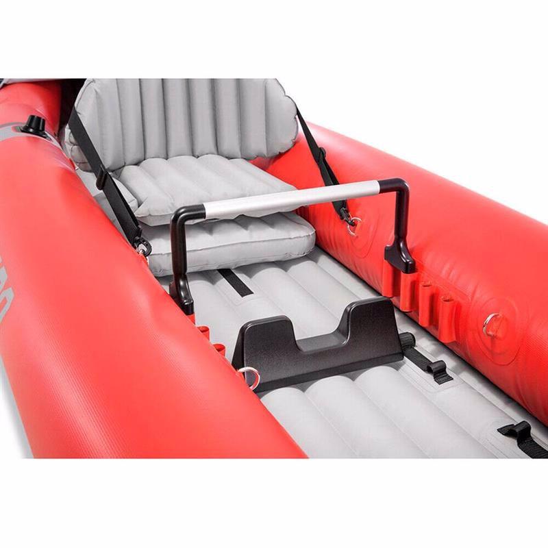 Двухместная надувная байдарка Intex 68309 (384 x 94 x 46 см) Excursion Pro + Алюминиевые весла и ручной насос