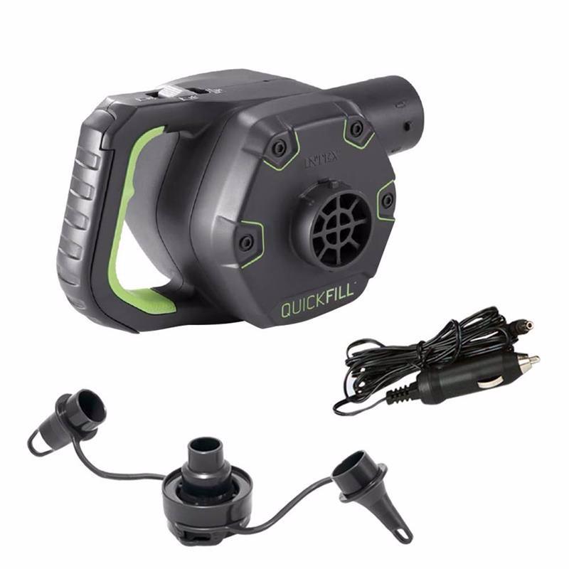 Аккумуляторный электронасос Intex 66642 (650 литр/мин) Quick-Fill™ Rechargeable (Работает от: сети 220В, прикуривателя 12B, аккумулятора)