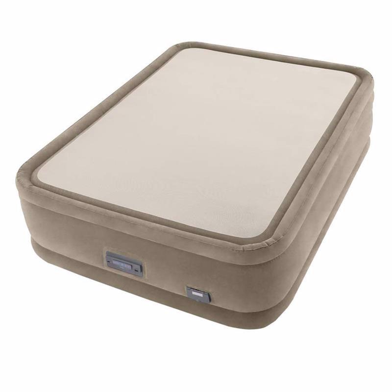 Двуспальная надувная кровать Intex 64936 (152 x 203 x 51 см) Thermalux + Функция терморегуляции, встроенный электронасос 220В с USB портом и регулятором жесткости