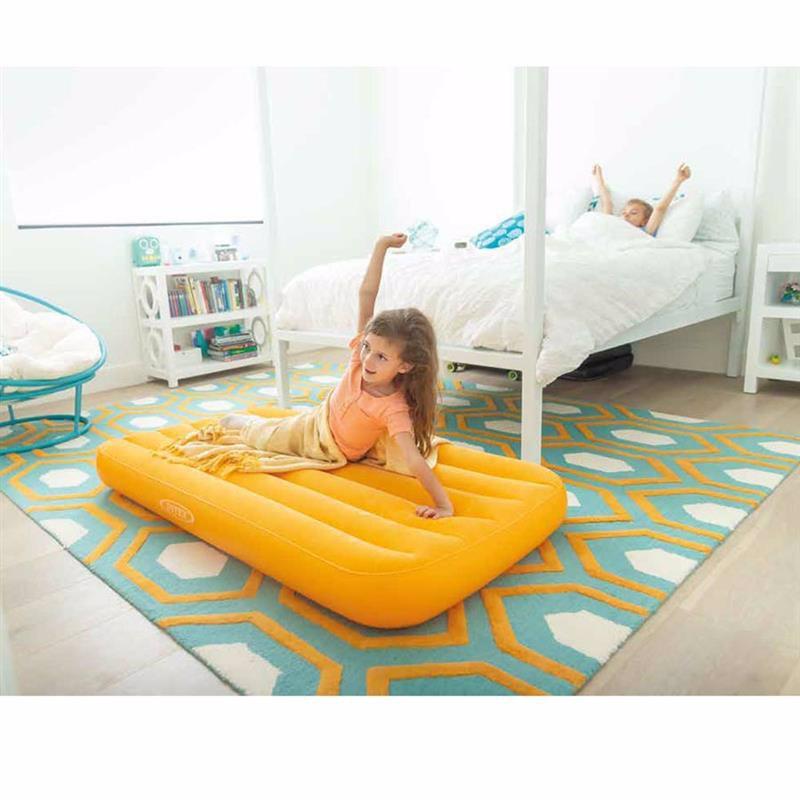 Детский надувной матрас Intex 66803 (88 x 157 x 18 см) Cozy Kidz (Оранжевый)