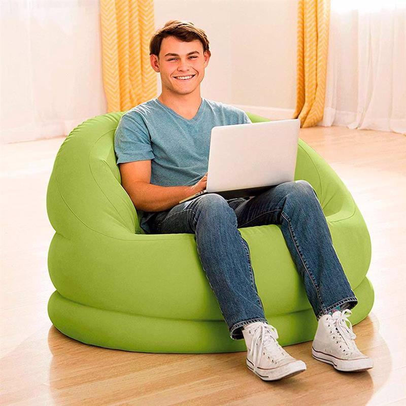 Надувное кресло Intex 68577 (112 x 104 x 79 см) Lumi Chair (Салатовый)