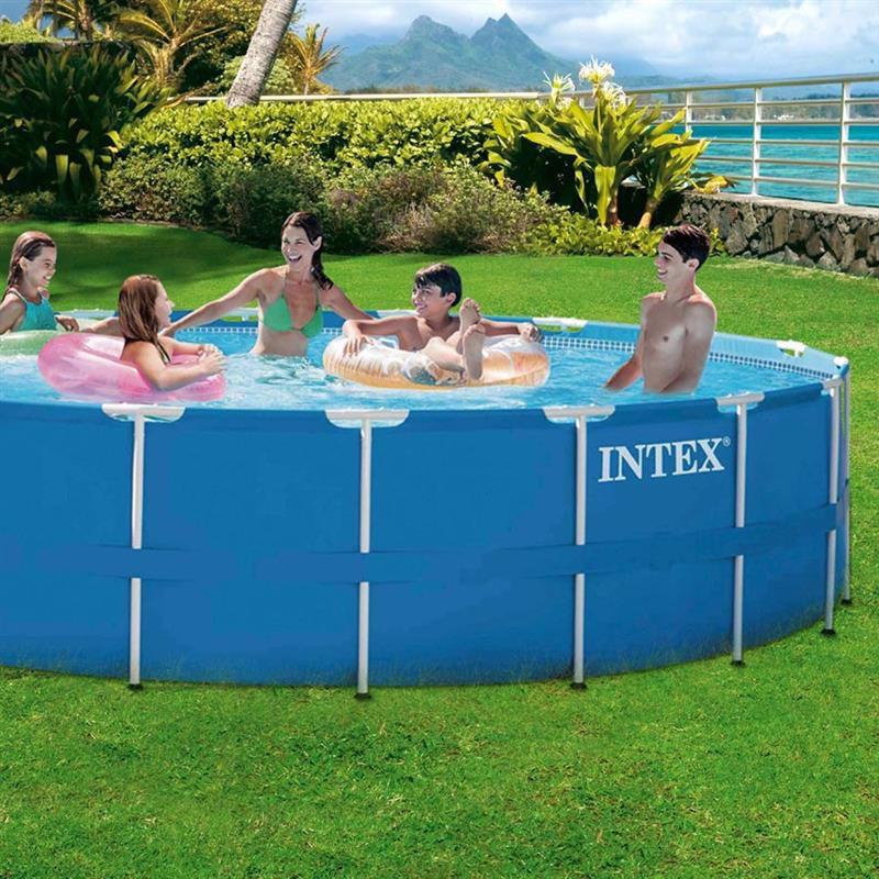Круглый каркасный бассейн Intex 28240 (457 x 84 см) Metal Frame Pool