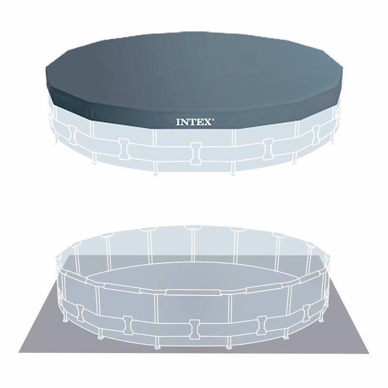 Круглый каркасный бассейн Intex 28242 (457 x 122 см) Metal Frame Pool