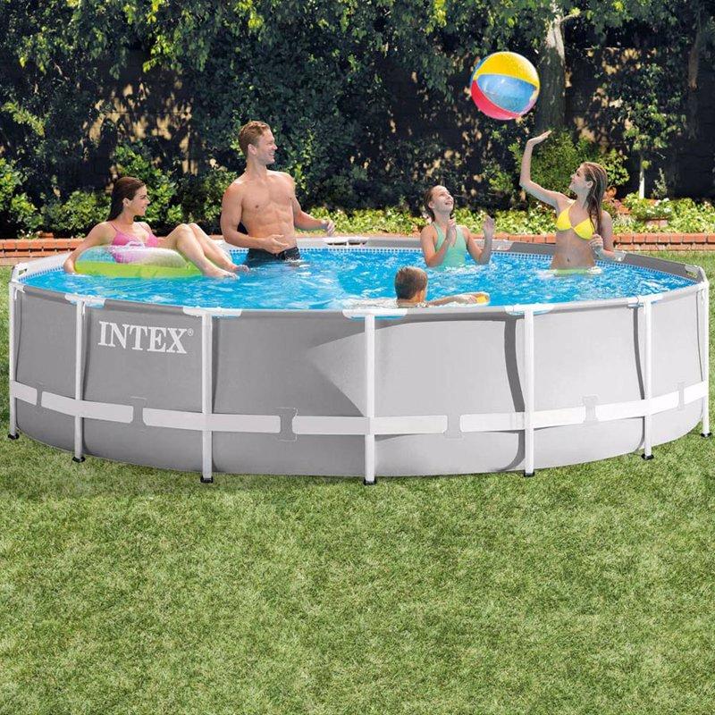 Круглый каркасный бассейн Intex 26720 (427 x 107 см) Prism Frame Pool