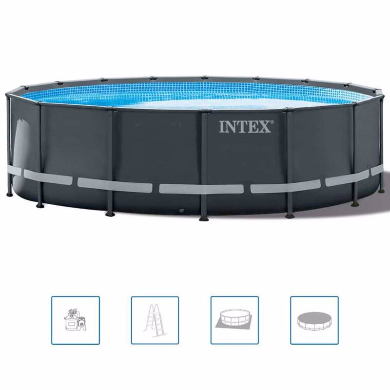 Круглый каркасный бассейн Intex 26326 (488 x 122 см) Ultra XTR Frame Pool