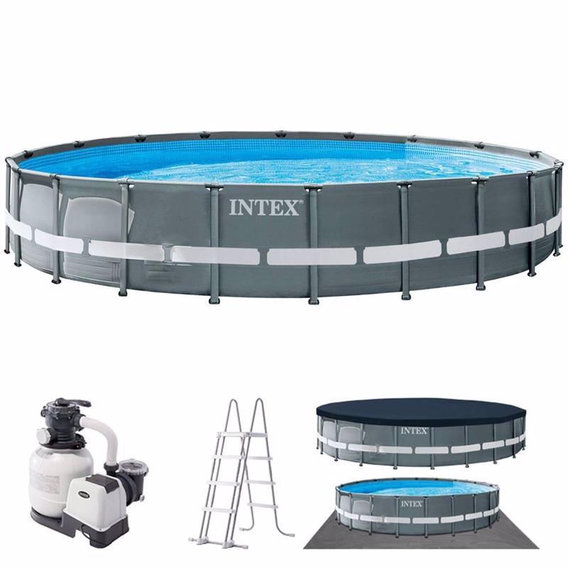 Круглый каркасный бассейн Intex 26334 (610 x 122 см) Ultra XTR Frame Pool