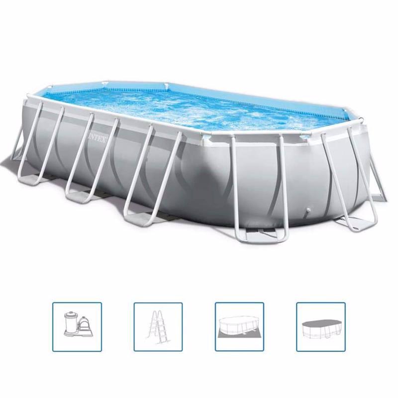 Овальный каркасный бассейн Intex 26796 (503 x 274 x 122 см) Oval Frame Pool