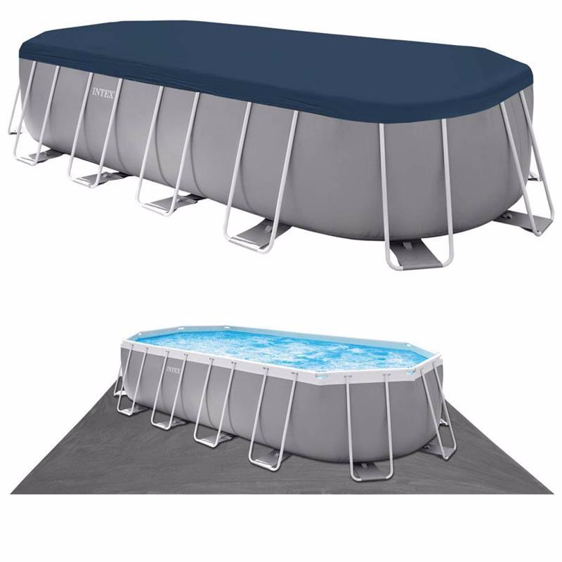 Овальный каркасный бассейн Intex 26798 (610 x 305 x 122 см) Oval Frame Pool
