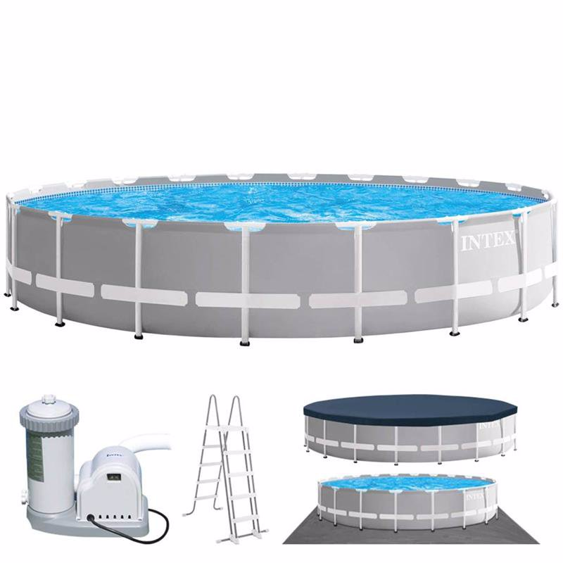 Круглый каркасный бассейн Intex 26756 (610 x 132 см) Prism Frame Pool