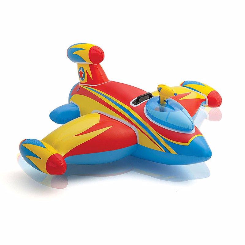 """Детский надувной плотик Intex 57539 (147х127 см) """"Космический корабль"""" Water Gun Spaceship Ride-On (Красный)"""