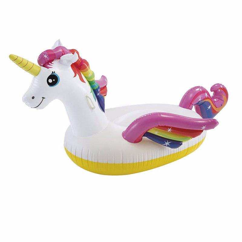Детский надувной плотик Intex 57561 Единорог (201 x 140 x 97 см) Unicorn Ride-on