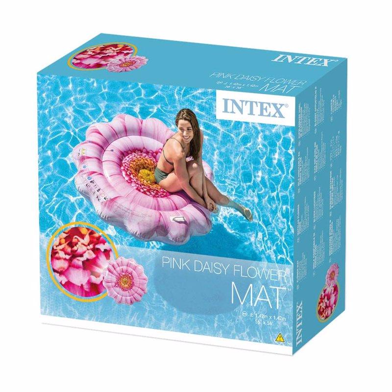 Надувной плотик Intex 58787 Розовый цветок (142 x 142 см) Pink Daisy Flower Mat