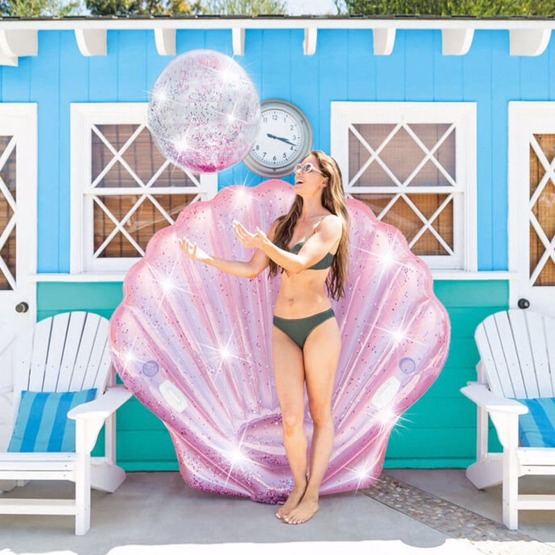 Надувной плотик Intex 57257 Жемчужина (178 x 165 x 24 см) Pink Seashell Island