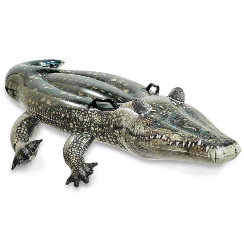 Детский надувной плотик Intex 57551 Аллигатор (170 x 86 см) Realistic Gator Ride-on