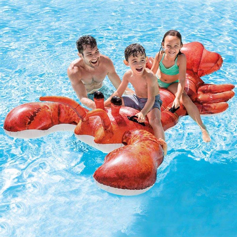 Детский надувной плотик Intex 57533 Лобстер (213 x 137 см) Lobster Ride-on