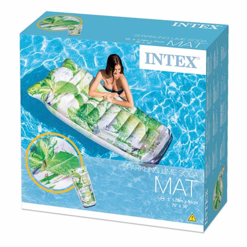 Надувной плотик Intex 58778 Мохито (178 x 91 см) Infused Sparkling Water Mat