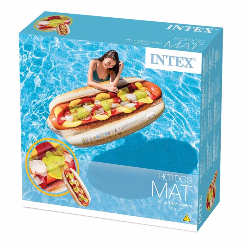 Надувной плотик Intex 58771 Хот-дог (180 x 89 см) Hotdog Mat