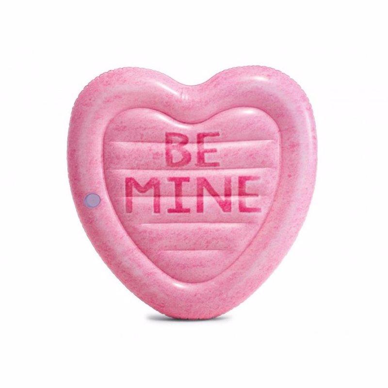 Надувной плотик Intex 58789 Сердце (145 x 142 см) Candy Heart Island