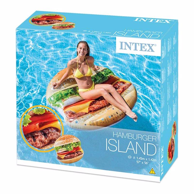Надувной плотик Intex 58780 Гамбургер (145 x 142 см) Hamburger Island