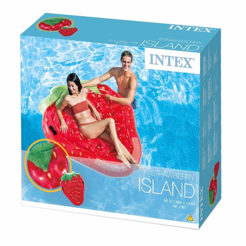 Надувной плотик Intex 58781 Клубничка (168 x 142 см) Strawberry Island