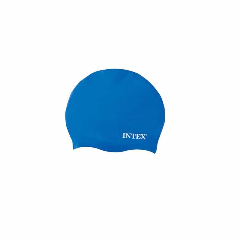 Шапочка для плавания Intex 55991 (Синий) Silicone Swim Cap
