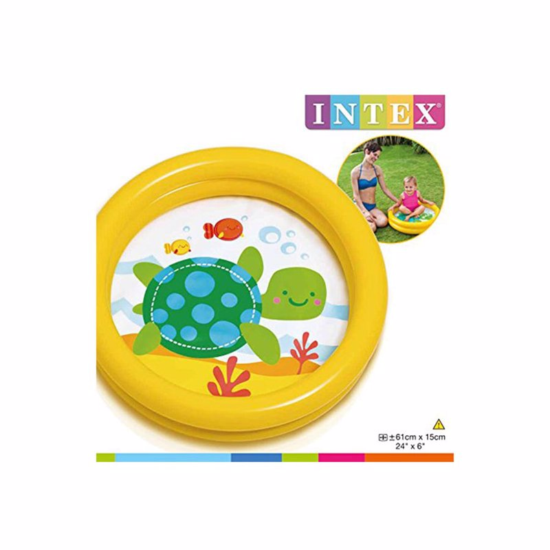 Детский надувной бассейн Intex 59409 (Желтый) My First Pool (61х15 см)