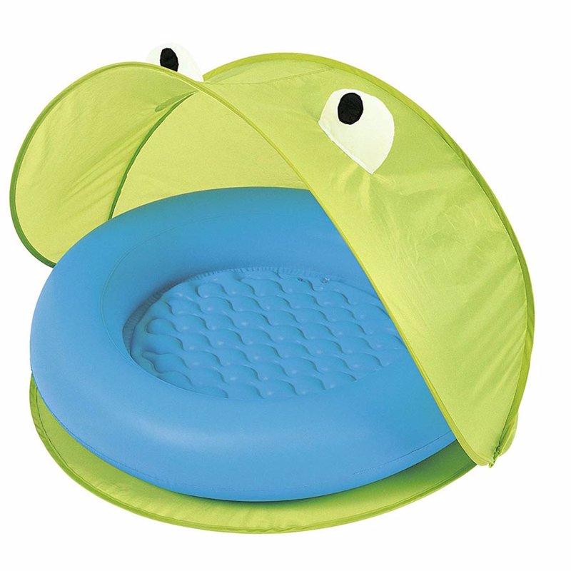Детский надувной бассейн Bestway 51110 (Салатовый) Play Pool With Twist' N Fold Tent (97x97x74 см)