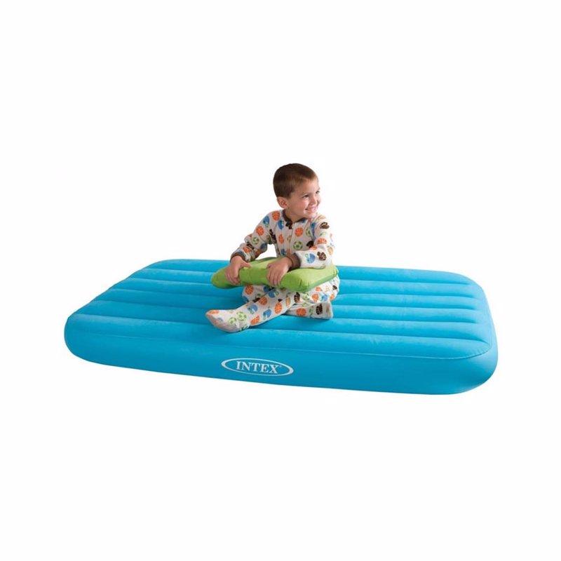 Детский надувной матрас Intex 66801 (88 x 157 x 18 см) Cozy Kidz (Голубой) + Надувная подушка