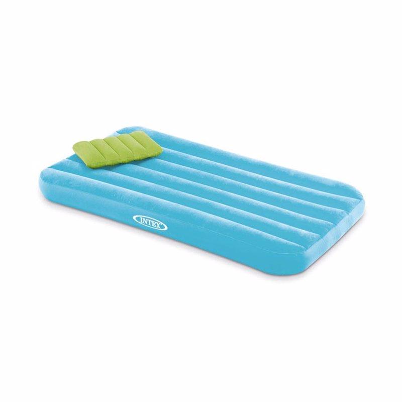 Детский надувной матрас Intex 66801 (Голубой) Cozy Kidz Airbed (88x157x18 см) + Надувная подушка