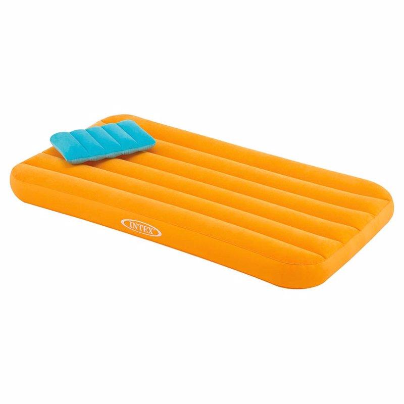 Детский надувной матрас Intex 66801 (88 x 157 x 18 см) Cozy Kidz (Оранжевый) + Надувная подушка
