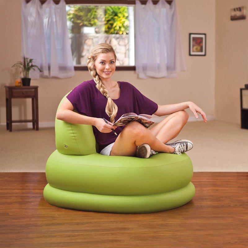 Надувное кресло Intex 68592 (84 x 99 x 76 см) Mode Chair (Салатовый)