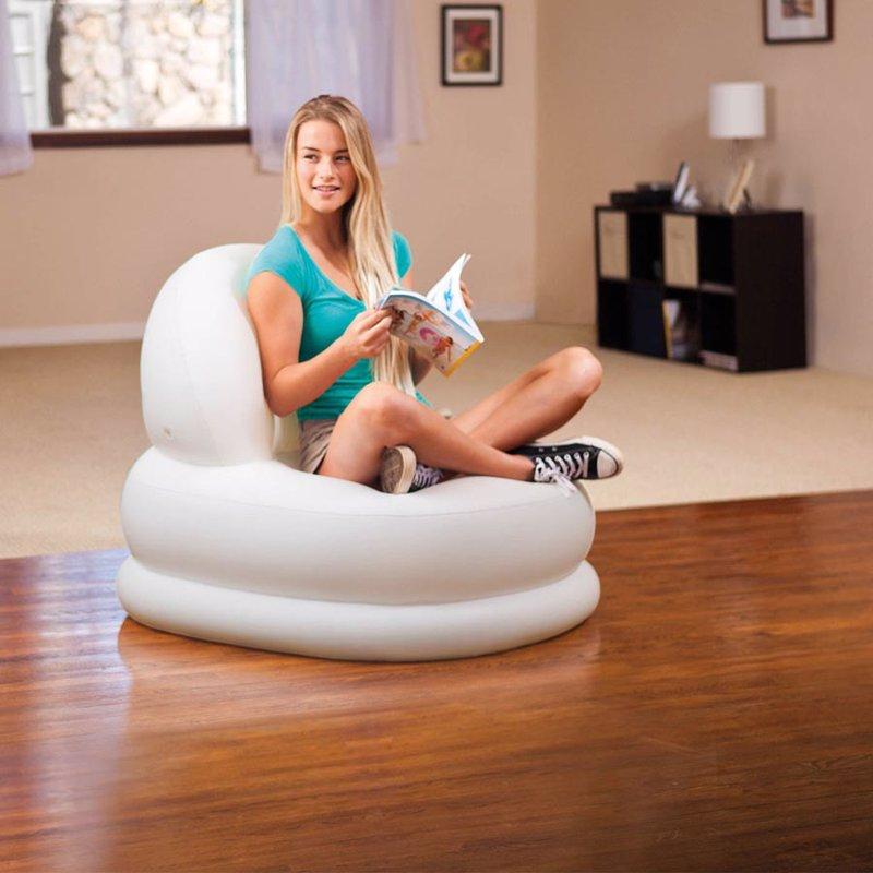 Надувное кресло Intex 68592 (84 x 99 x 76 см) Mode Chair (Белый)