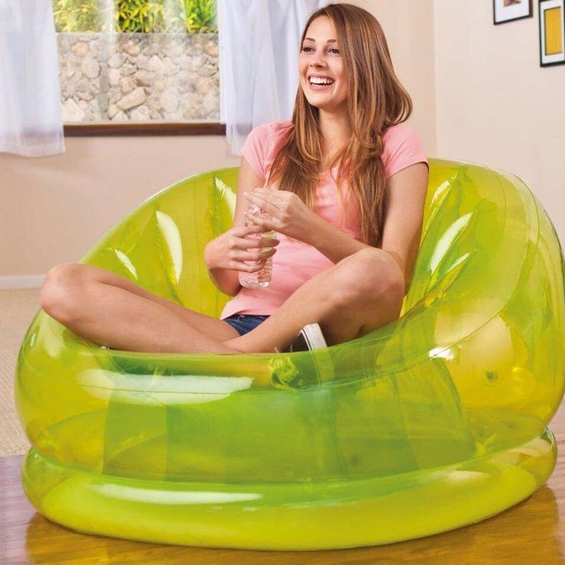 Надувное кресло Intex 68594 (104 x 117 x 69 см) Cosmo Chair (Салатовый)