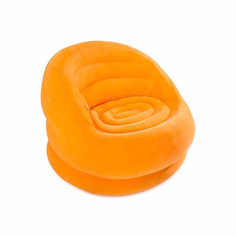 Надувное кресло Intex 68577 (112 x 104 x 79 см) Lumi Chair (Оранжевый)