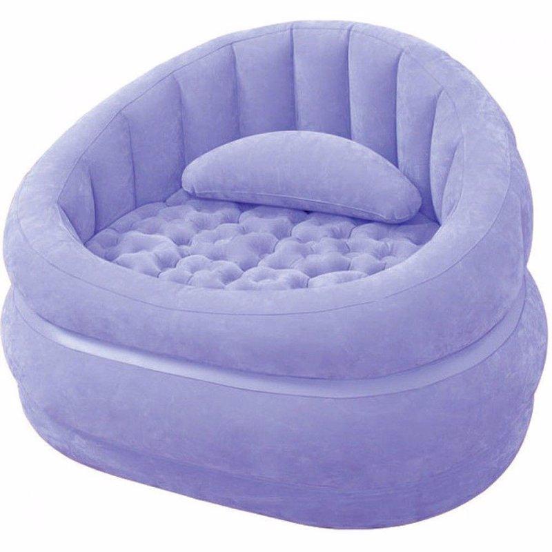 Надувное кресло Intex 68563 (91 x 102 x 65 см) Cafe Chair (Фиолетовый)