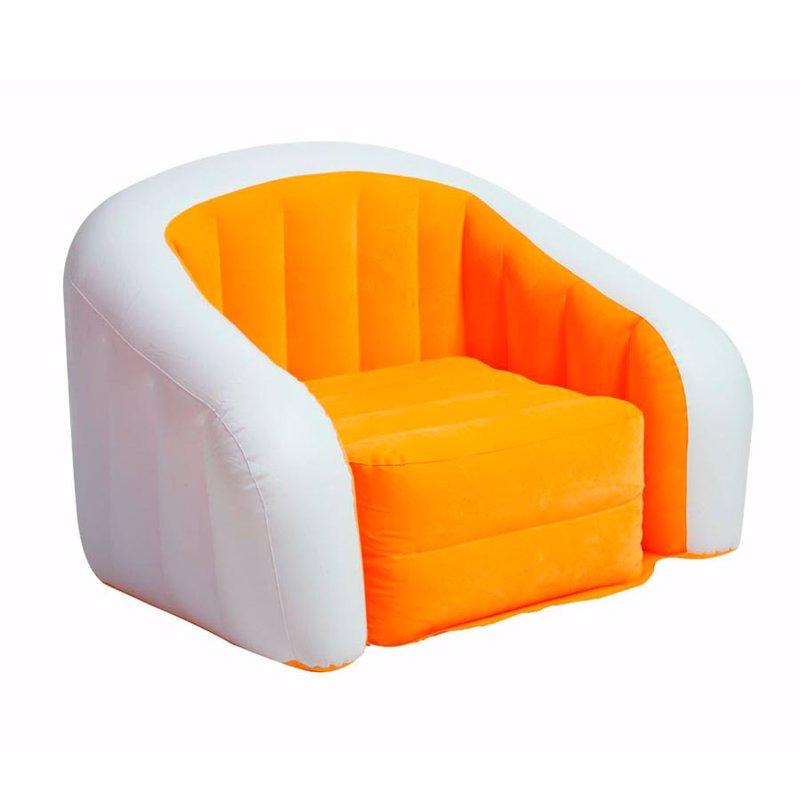 Надувное кресло Intex 68571 (97 x 76 x 69 см) Cafe Club (Оранжевый)