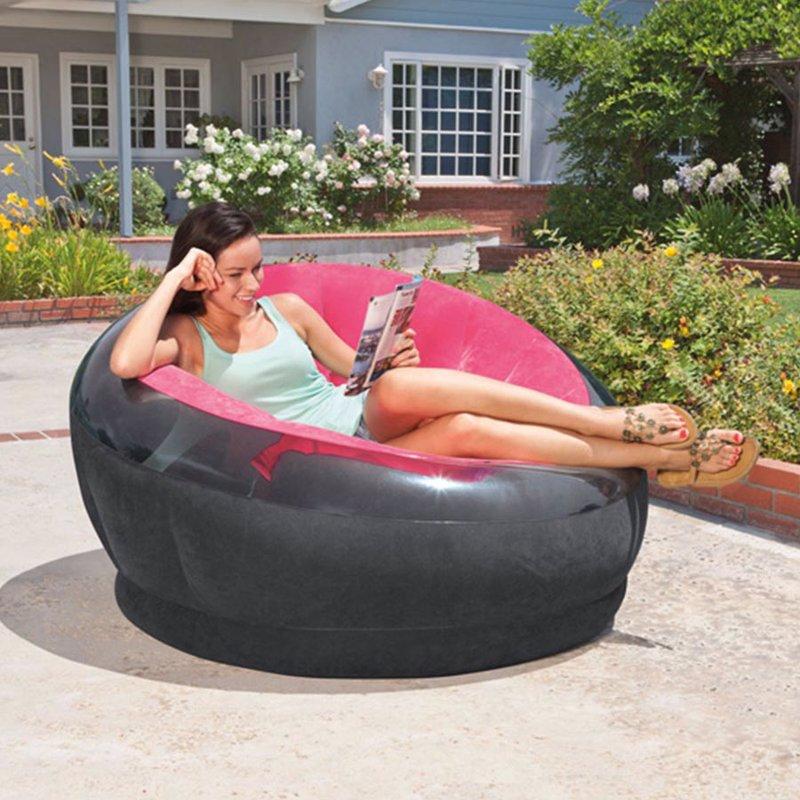Надувное кресло Intex 68582 (112 x 109 x 69 см) Empire Chair (Розовый)