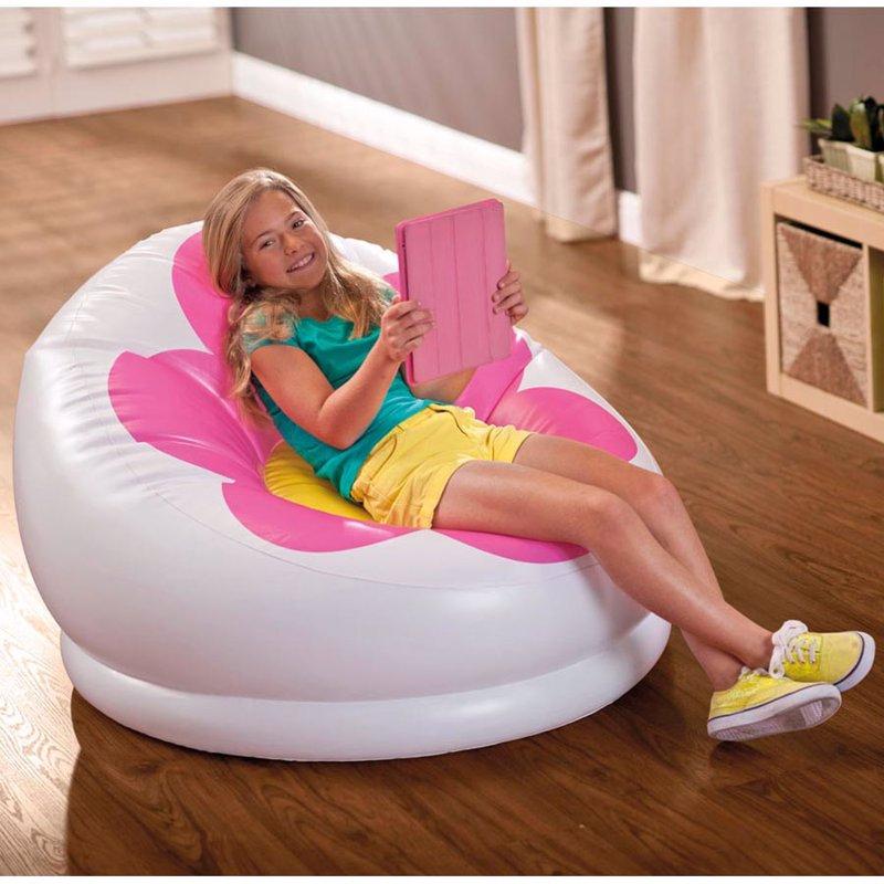 Детское надувное кресло Intex 68574 (102 x 99 x 64 см) Blossom Chair (Розовый)