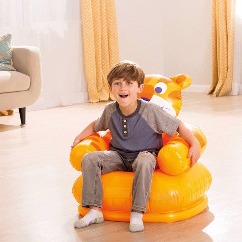 Детское надувное кресло Intex 68556 (66 x 64 x 71 см) Тигр