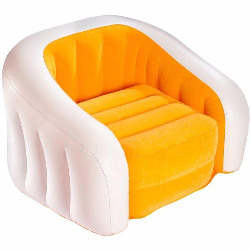 Детское надувное кресло Intex 68597 (69 x 56 x 48 см) Jr. Cafe Club (Оранжевый)