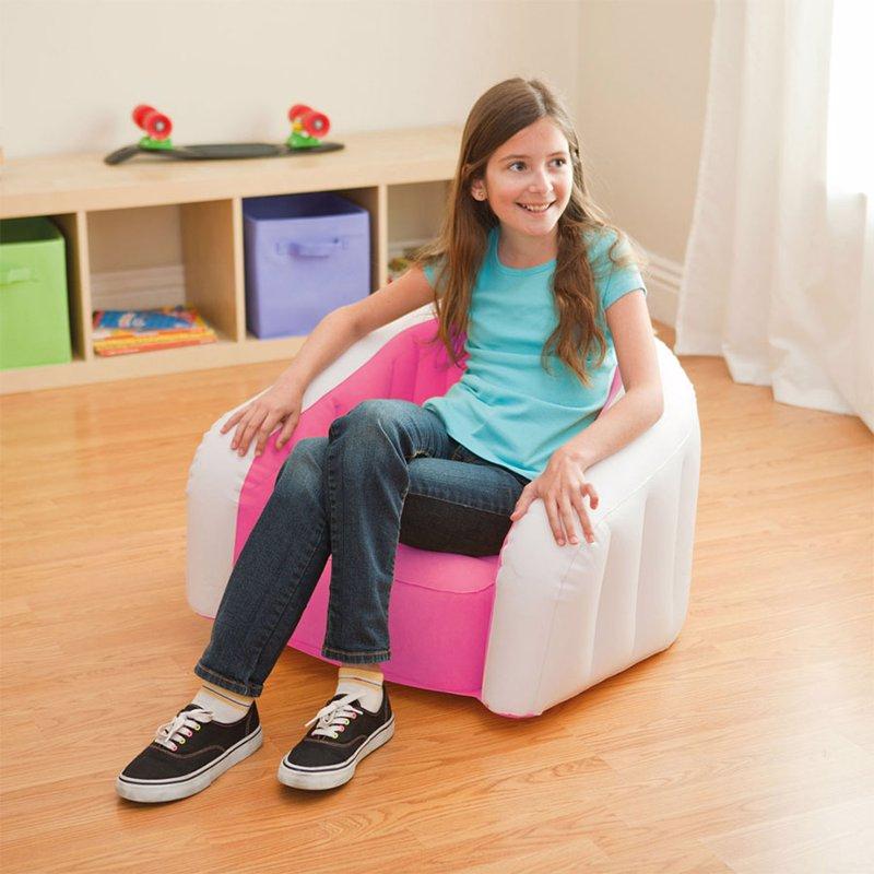 Детское надувное кресло Intex 68597 (69 x 56 x 48 см) Jr. Cafe Club (Розовый)