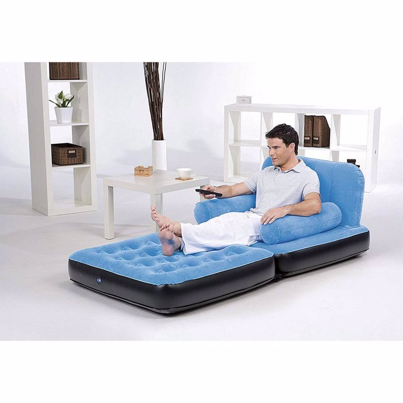 Надувное кресло-трансформер Bestway 67277 (191 x 97 x 64 см) Multi-Max Air Couch (Голубой)