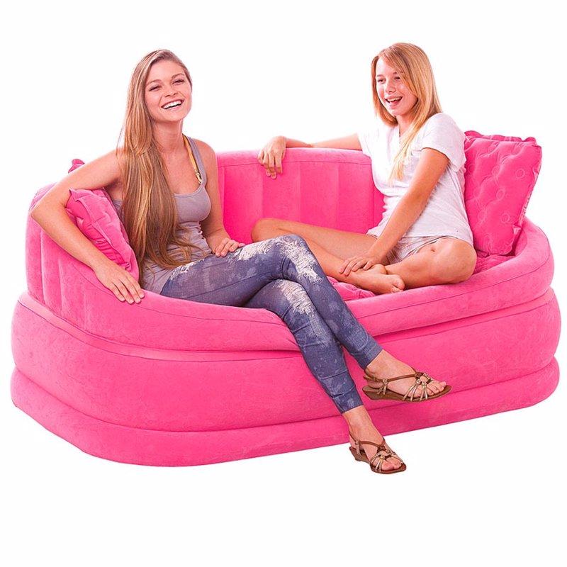 Надувной диван Intex 68573 (157 х 86 х 69 см) Розовый