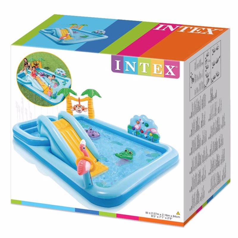 Водный надувной игровой центр Intex 57161 (257 x 216 x 84 см) Приключение в джунглях