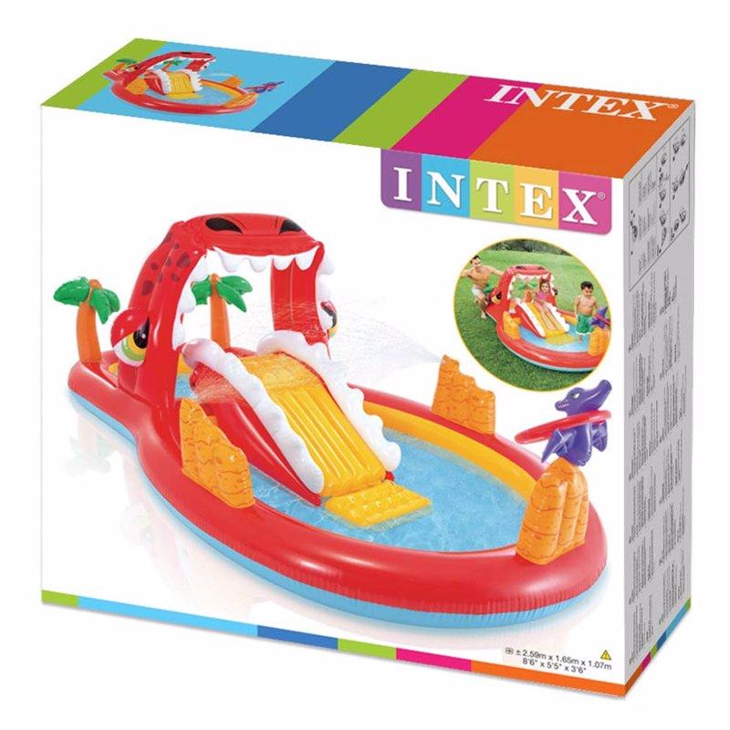 Водный надувной игровой центр Intex 57160 Счастливый динозавр (259 x 165 x 107 см) Happy Dino Play Center