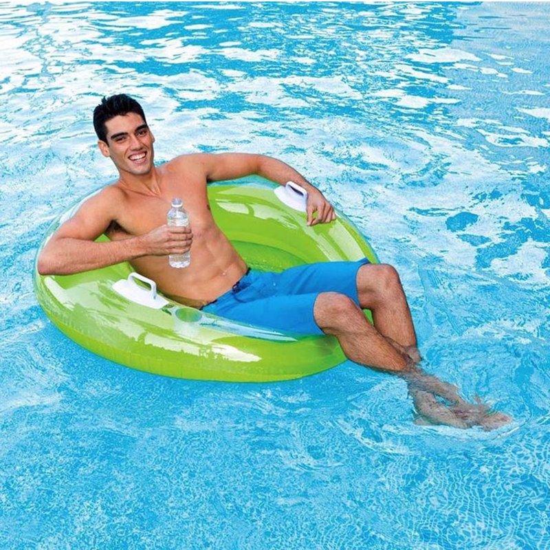 Пляжное надувное кресло Intex 58883 Салатовый Sit 'n Lounge (119 см)