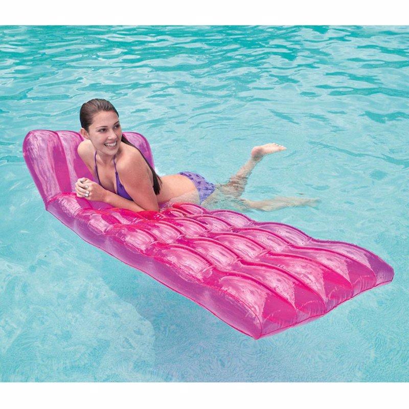 Пляжный надувной матрас для плавания Intex 58876 Розовый Color Splash Lounges (191х81 см)