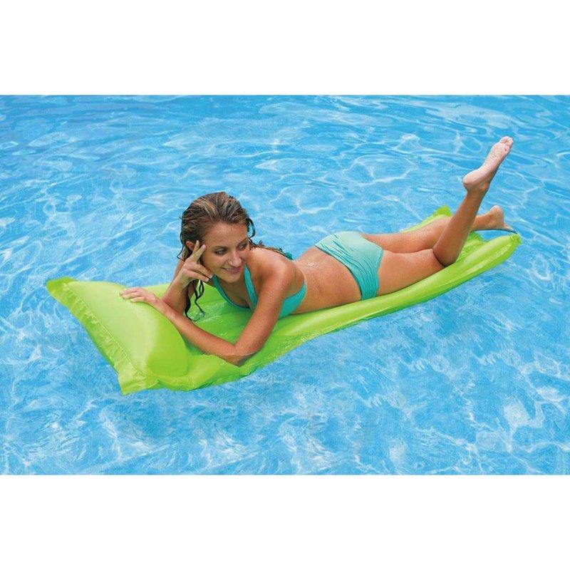 Пляжный надувной матрас для плавания Intex 59703 (Салатовый) Economats (183х69 см)